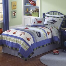 Trucks at Work 2 Piece Quilt Set