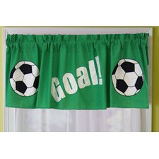 <strong>My World</strong> Soccer Cotton Blend Curtain Valance