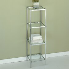 Glacier Four Tier Etagere in Chrome