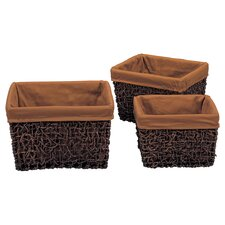 Twist Square Baskets (Set of 3)