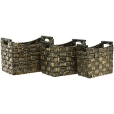 Water Hyacinth & Maize Braid Basket (Set of 3)
