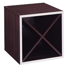 <strong>OIA</strong> Quadrant 'X' Section Storage Cube in Espresso with Silver Trim