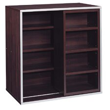 "Quadrant Sliding 30"" Cube Bookcase"