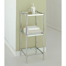 Glacier Three Tier Etagere in Chrome