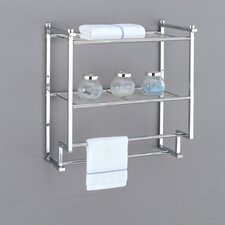 Metro Two Tier Wall Mounting Rack with Towel Bars