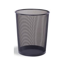 Round Wastebaskets in Black