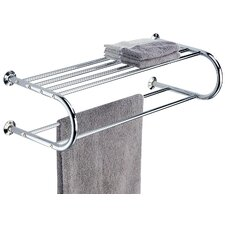 Shelf with Towel Rack in Chrome