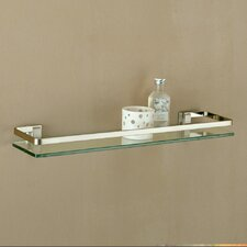 Glass Shelf with Nickel Mounts and Rail