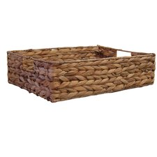 Water Hyacinth Flat Basket