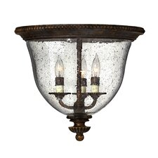 <strong>Hinkley Lighting</strong> Rockford 3 Light Flush Mount