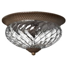 Plantation 3 Light 60W Flush Mount