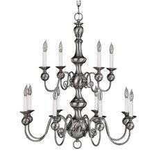 Virginian 12 Light Chandelier