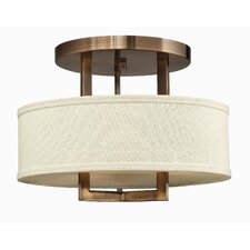 Hampton 3 Light Semi Flush Mount Foyer