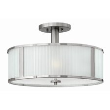 Midtown 3 Light Semi Flush Mount