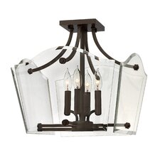 Wingate 4 Light Semi Flush Mount Foyer