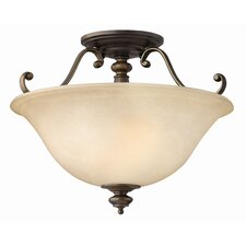 Dunhill 2 Light Semi Flush Mount Foyer
