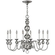 <strong>Hinkley Lighting</strong> Virginian 8 Light Chandelier