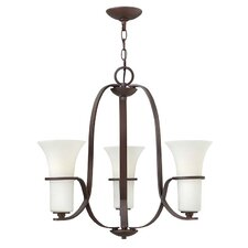 Lauren 3 Light Semi Flush Mount