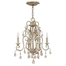 Carlton 4 Light Crystal Chandelier