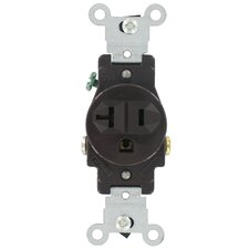 Commercial Grade Straight Blade Single Receptacle