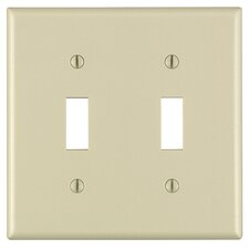 2 Gang Toggle Wall Plate