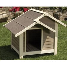 Outback Twin Peaks Dog House in Tan / White