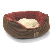 Pillow Soft Daydreamer Bolster Pet Bed in Dark Rust