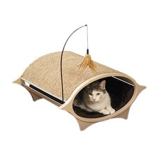 Cat Eye Modular Cat Bed and Corrugate Scratcher