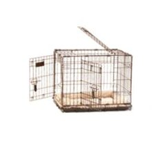 Great Crate Two-Door Dog Crate with Divider Panel in Chrome