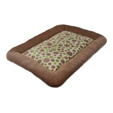Cute as a Button Spot Low Bumper Crate Dog Mat