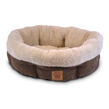 <strong>Precision Pet Products</strong> Natural Surroundings Shearling Round Dog Donut Dog Bed