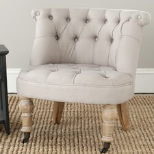 <strong>Safavieh</strong> Carlin Tufted Slipper Chair