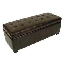 Manhattan Leather Entryway Storage Ottoman