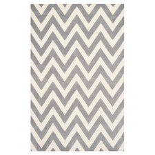 Cambridge Chevron Silver & Ivory Area Rug