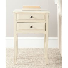 Lori 2 Drawer Nightstand in Antique White
