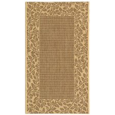 Courtyard Leaves Border Outdoor Rug