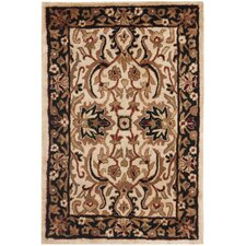 Persian Legend Ivory and Black Rug