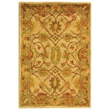 Antiquities Ivory/Light Green Area Rug