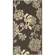 <strong>Safavieh</strong> Courtyard Black Natural/Brown Rug