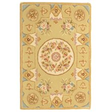 French Tapis Soft Green/Beige Rug