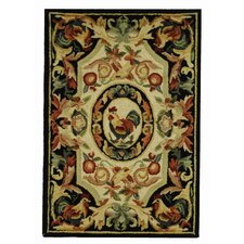 Chelsea Ivory/Black Novelty Area Rug