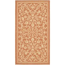Courtyard Terracotta/Natural Persian Outdoor Rug