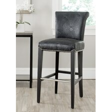 "<strong>Safavieh</strong> Mercer 30"" Bar Stool with Cushion"
