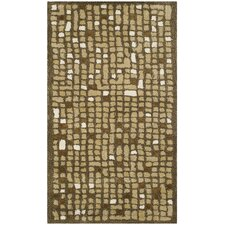 Martha Stewart Oolong Tea Green Rug