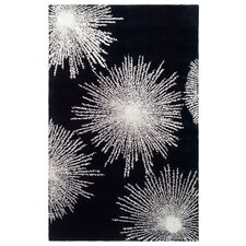 Soho Burst Black & White Area Rug
