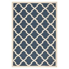 Courtyard Rosie Navy/Beige Outdoor Area Rug