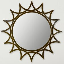 "36"" H x 36"" W New Mayan Star Mirror"