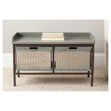 American Home Noah Wooden Storage Bench