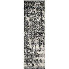 Adirondack Silver / Black Outdoor Rug