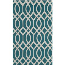 <strong>Safavieh</strong> Cedar Brook Teal / Ivory Rug